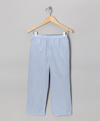 Blue & Red Reversible Pants - Infant & Kids