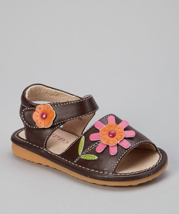 Brown & Hot Pink Colette Sandal
