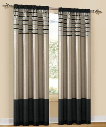 Emblem Cityscape Curtain Panel - Set of Two