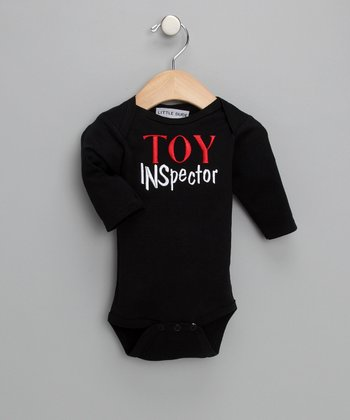 Black 'Toy Inspector' Bodysuit - Infant