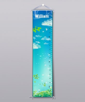 Dreamy Sky Personalized Growth Chart