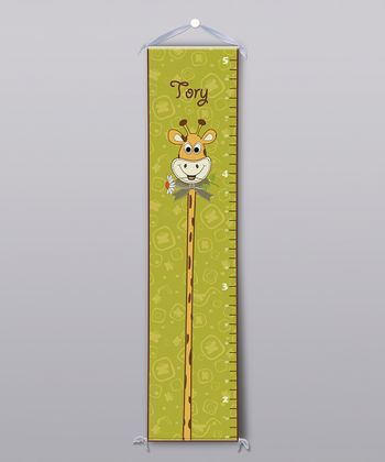 Green Giraffe Personalized Growth Chart