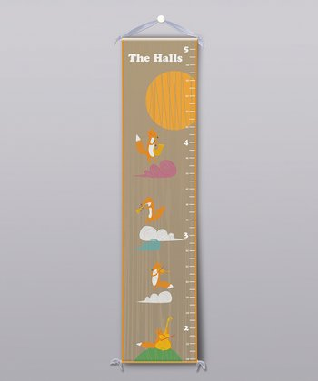 Musical Foxes Personalized Growth Chart