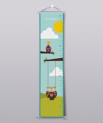Owl Birdhouse Personalized Growth Chart