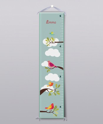 Birds of a Feather Personalized Growth Chart