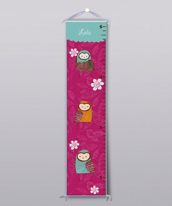 Cute Owls Personalized Growth Chart