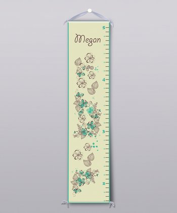Dreamy Floral Personalized Growth Chart