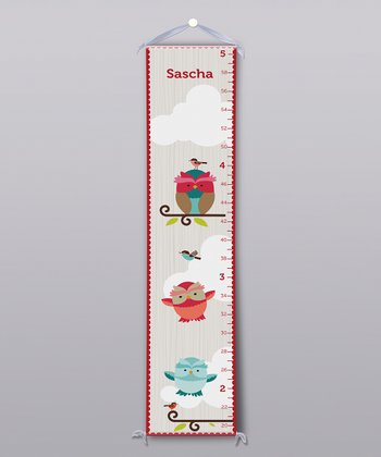 Fun Birds Personalized Growth Chart