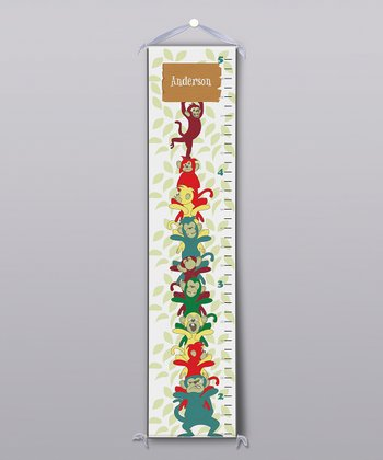 Monkey Totem Pole Personalized Growth Chart