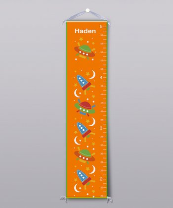 Orange Space Personalized Growth Chart