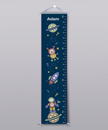 Navy Space Personalized Growth Chart