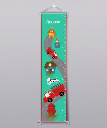 Fire Truck Personalized Growth Chart
