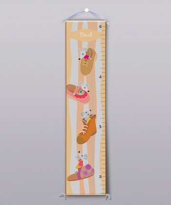 Mice Slippers Personalized Growth Chart