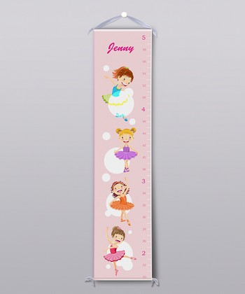 Ballerinas Personalized Growth Chart