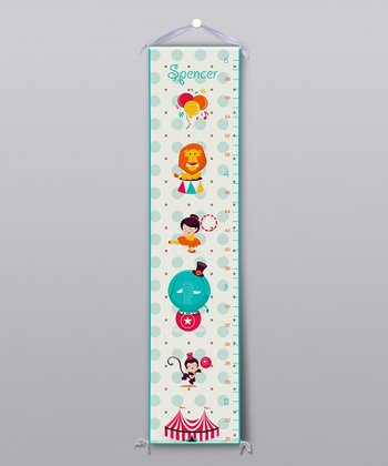 Blue Circus Personalized Growth Chart