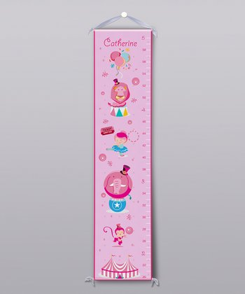Pink Circus Personalized Growth Chart