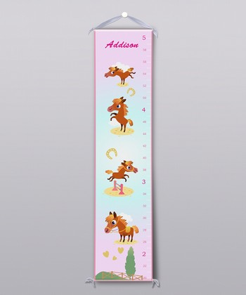 Horses Personalized Growth Chart