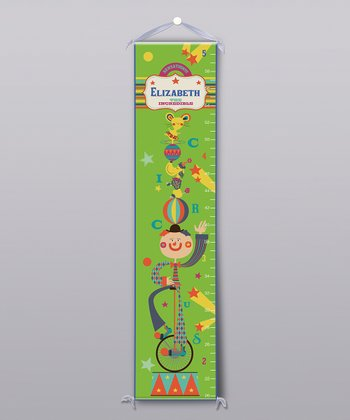 Circus Clown Personalized Growth Chart