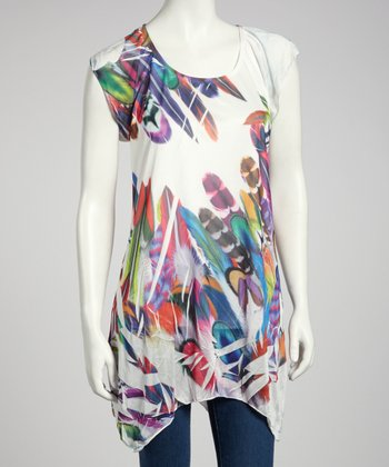 Rainbow Feather Sublimation Top