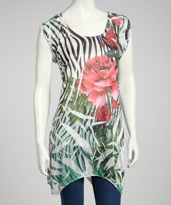 Zebra Flowers Sublimation Top