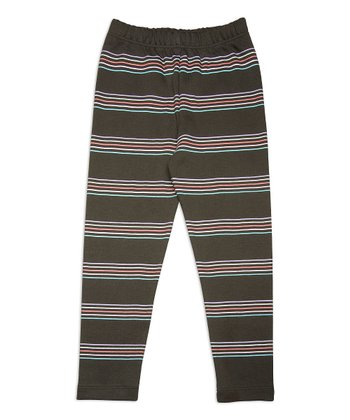 Beluga Stripe Organic Leggings - Toddler