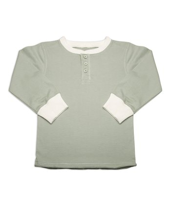 Green Tea Organic Henley - Toddler