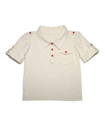 Eco White Organic Polo - Toddler