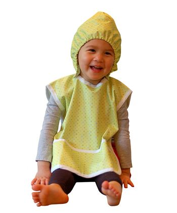 Green Polka Dot Hooded Bib