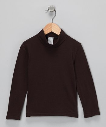 Brown Classic Turtleneck - Infant, Toddler & Girls