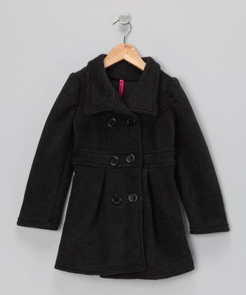 Charcoal Peacoat - Toddler & Girls
