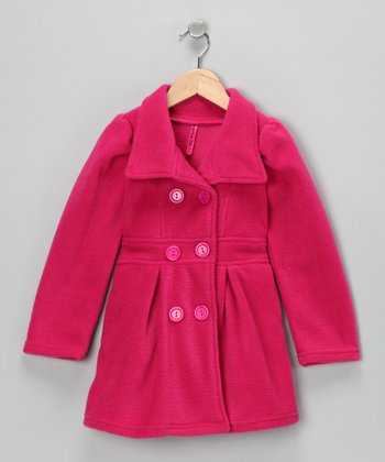 Pink Peacoat - Toddler & Girls