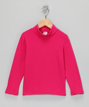Pink Classic Turtleneck - Infant, Toddler & Girls