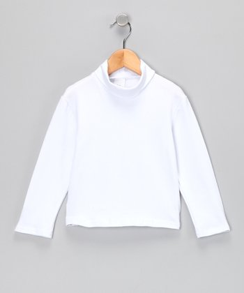 White Classic Turtleneck - Infant, Toddler & Girls