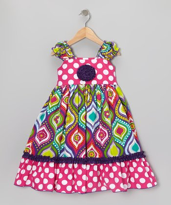 Pink Funky Flowers Kristin Dress - Infant, Toddler & Girls
