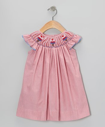 Red Stripe Ice Cream Smocked Dress - Infant, Toddler & Girls