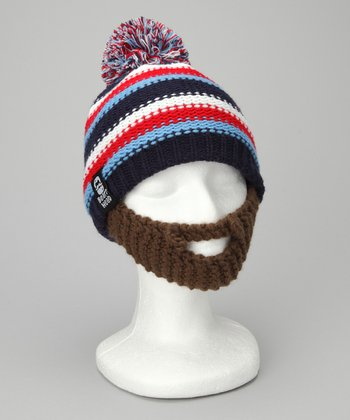 Blue & Brown Gromm Beard Beanie