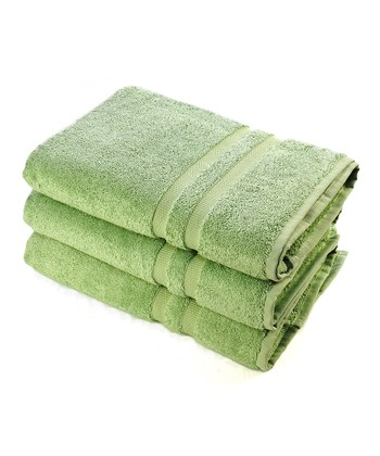 Sage Green Luxury Bath Towel - Set of Three