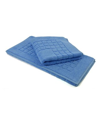Blue Busseto Bath Mat - Set of Two