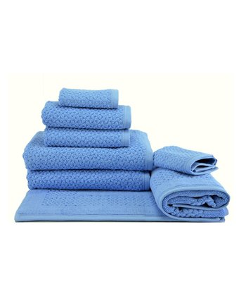 Blue Jacquard Hardwick Towel Set