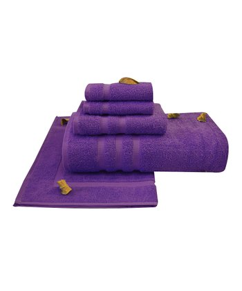 Purple Liat Towel Set