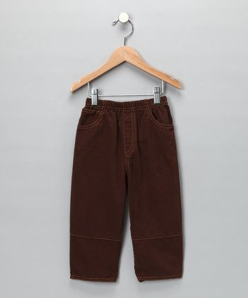 Chocolate Twill Pants - Toddler & Boys