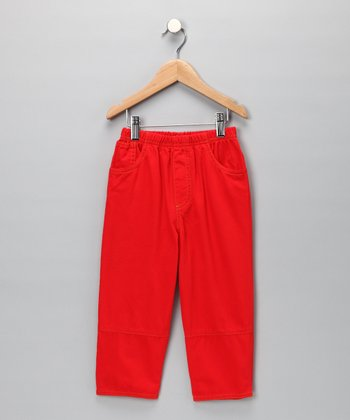 Red Twill Pants - Toddler