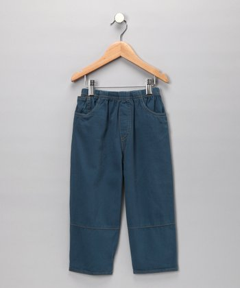 Storm Blue Twill Pants - Toddler & Boys