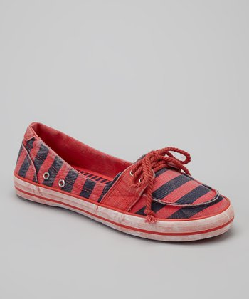 Pepper Stripe Mandarin Boat Shoe