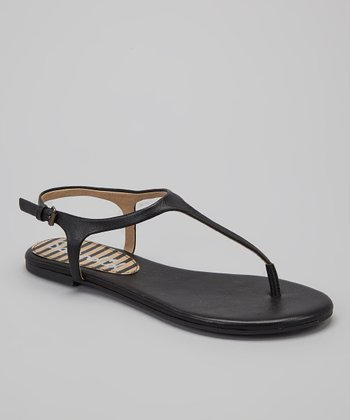 Black Leather Nappa Mason Sandal