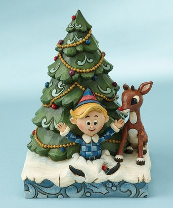 Tree & Rudolph Figurine