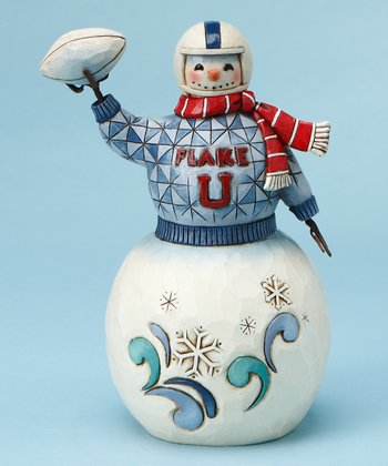 Football Snowman Figurine