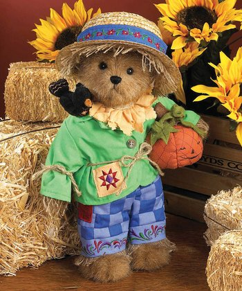 Bear Scarecrow Plush Figurine
