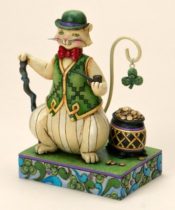 Irish Cat Figurine
