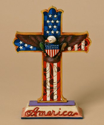 Patriotic Cross Figurine